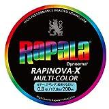 Rapala(ラパラ) ライン ラピノヴァXマルチカラー0.8号/17.8lb/8kg/200m RXC200M08MC