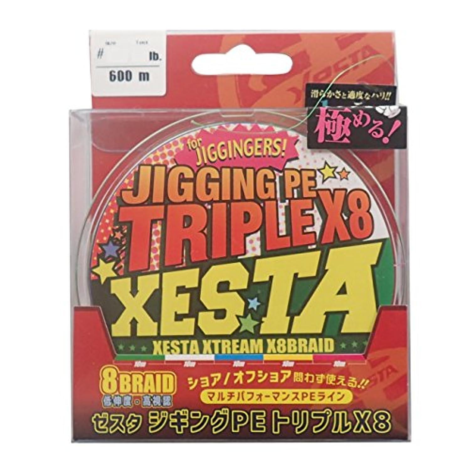 アレキサンダーグラハムベルファイナンス変わるゼスタ(XESTA) PEライン ジギングPE トリプルX8 600m 1.5号 25lb(11.3kg)