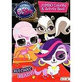 Hasbro Littlest Pet Shop ジャンボ塗り絵&アクティビティブック - ランウェイレディー