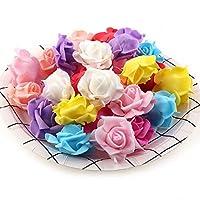 20個 本物みたい 造花 3.5cm 薔薇 フェイクフラワー 選べる9色 インテリア ヘッドドレス 結婚 手芸