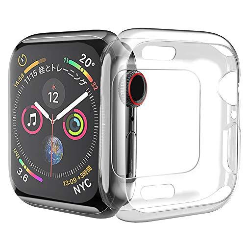 HOCO コンパチブル Apple Watch Series 4 ケース アップルウォッチ4 カバー 44mm 透明 TPU ケース 耐衝撃性 超簿 脱着簡単 アップルウォッチ 保護ケース Apple Watch 4に対応 (クリア/44mm)