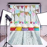 写真撮影用背景幕 写真スタジオ背景 3×5フィート 誕生日パーティー