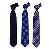 [ハルヤマ] HARUYAMA 15種類から選べる 洗えるネクタイ 3本セット 洗濯ネット付き ビジネス フレッシュマンに応援 M181180002