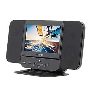 CREFOL 9 インチ液晶付マルチコンポ DVD/CD再生でき、同軸音声出力  FMラジオ付き ダイレクト録音機能搭載 ステレオスピーカ搭載(ブラック)