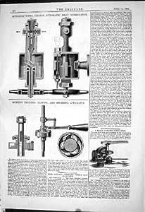 1884のSchonheyderの目に見える自動低下ルブリケーターMorrisギヤの設計