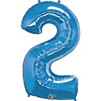 Qualatex Blue Giant Number 2/Two Foil Balloon 34