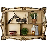 adirhome Ornamental Wood Wall Shelf with 4セクション