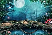 "pigbangbang、intellectiv Games Photomosaic Jigsaw Puzzle Basswood in aボックス1000Piece 29.5X 19.6""有名な絵画壁画ホームdecoration- Lake Forest Mushroom Magicalバタフライ"