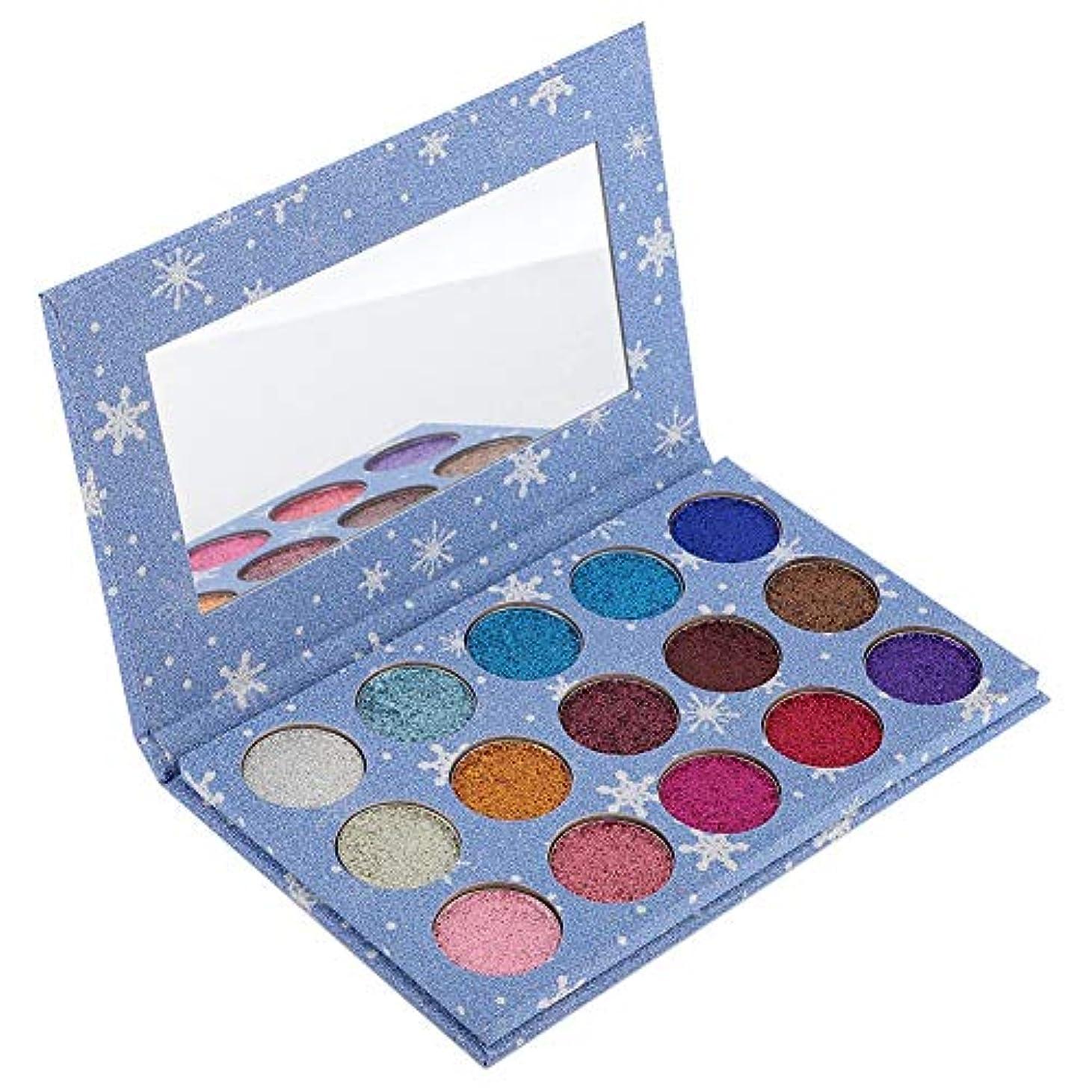 時々時々実験的のヒープアイシャドウパレット 15色 アイシャドウパレット 化粧マット グロス アイシャドウパウダー 化粧品ツール (01)