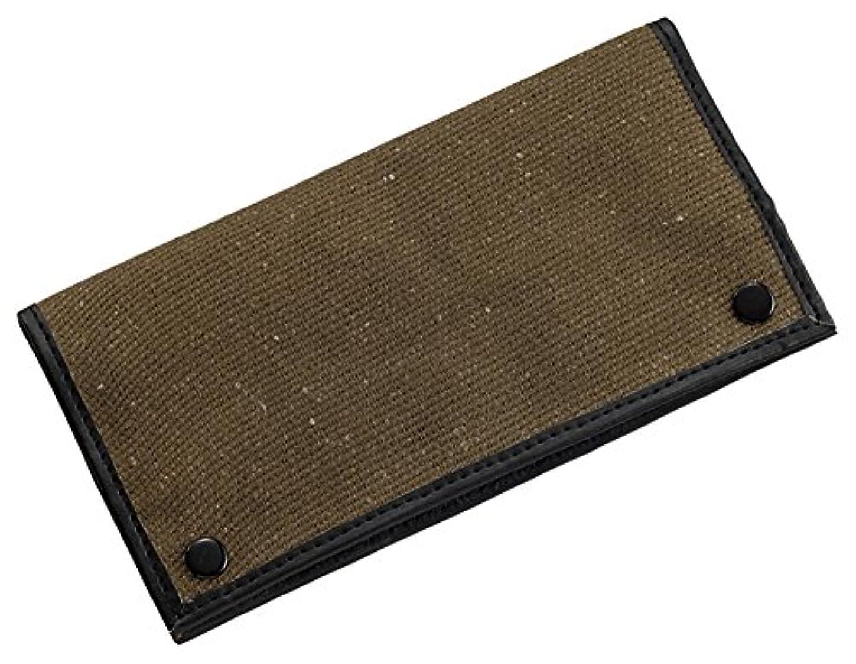 ペレグリネーションファイバ重量柘製作所(tsuge) コットン製手巻きポーチ ブラウン #78319