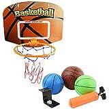 【Growthick Farm】 バスケットセット バスケットゴール 壁掛け 屋内外兼用 折り畳み ボール3個セット