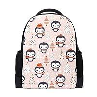 1028ac11b3ab リュック ペンギン ピンク かわいい レディース 学生用 大容量 耐久性 軽量 かばん デイパック キッズ 子供