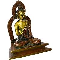 チベット仏教Deity Buddha in Vitark Mudra – 真鍮Statue