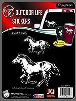 Enjoy It JQL Running Horse電源車ステッカーby Cynthie Fisher、3ピース