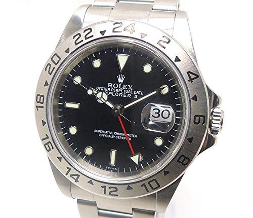 ロレックス エクスプローラー2 Ref.16570 A番 SS ブラック文字盤 メンズ腕時計 オートマ [中古]