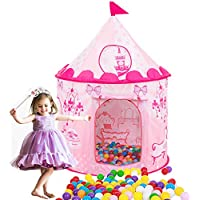 HAOCOOプリンセスお城テント、子供、再生テントアウトドア、インドア女の子ドールハウスPlayhouse Pop Up Toys Gift with Drawstringバックパックfor 1 – 8 Years Old Kidsボールピット( Not Include Balls ) ピンク PinkPrincessTent