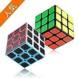 スピードキューブ Cobiz 立体パズル 2個セット(3×3、3×3) 競技専用 世界基準配色 ストレス解消 脳トレ ポップ防止 お子様への誕生日