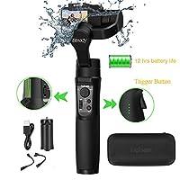 hohem iSteady Pro 2アップグレード3軸ハンドヘルドアクションカメラジンバルスタビライザー 生活防水 GoPro Hero 7/6/5/4/3, Sony RX0, SJCAM, YI cam,OSMO Actionなど対応 ミニ三脚付 [一年間保証]