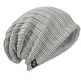 メンズ 大きいサイズのサマー ウィンター ニット帽 ニットキャップ ゆるビーニー帽 オールシーズン B306 (019-ペール)