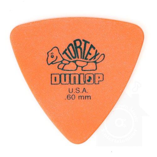 Jim Dunlop Tortex Triangle Pick 12枚セット トーテックス トライアングル ピック & Musent Custom Players Pick 特典付き | 431B.60-ORG-12P