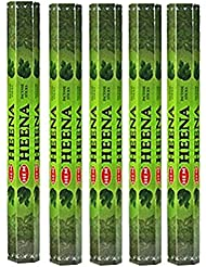 Hem Heena 100 Incense Sticks (5 x 20スティックパック)