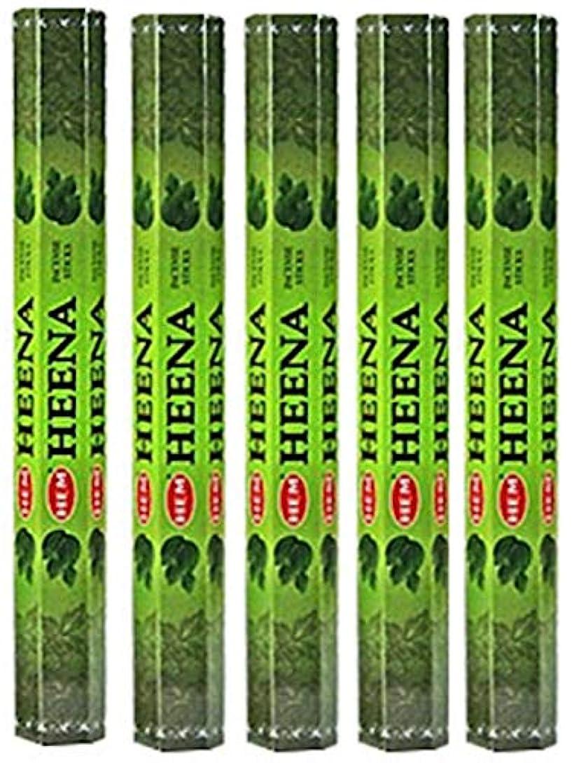 死にかけている平衡アナロジーHem Heena 100 Incense Sticks (5 x 20スティックパック)
