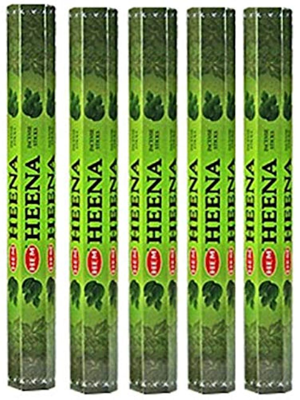 森太平洋諸島いつでもHem Heena 100 Incense Sticks (5 x 20スティックパック)