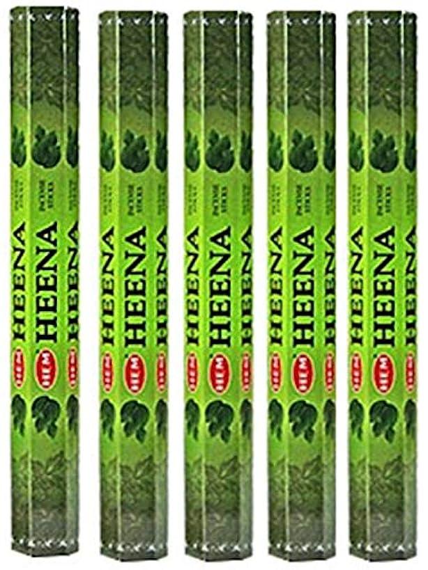 差し迫った撃退する離れてHem Heena 100 Incense Sticks (5 x 20スティックパック)