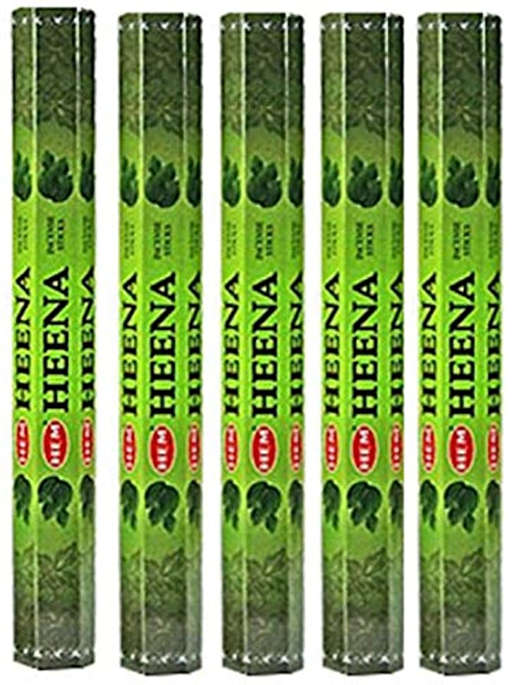 水っぽいキャッチパーティーHem Heena 100 Incense Sticks (5 x 20スティックパック)