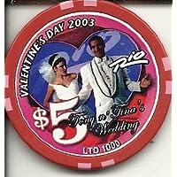 $ 5 Rio 2003 Valentine 's DayトニーとTinas結婚ラスベガスカジノチップ