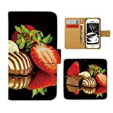 Tiara DIGNO L KC-02 スマホケース 手帳型 スイーツ フルーツ ケーキ いちご チョコ 手帳ケース カバー [E026301_04]