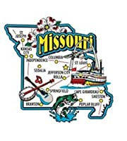 Missouri Jumbo State Map Fridge Magnet by Saddle Mountain Souvenir