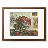 ポール・ゴーギャン Eugene Henri Paul Gauguin 「Still Life with Peonies, 1884.」 額装アート作品