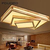yposionミニマリスト長方形木製リビングルームライト木製天井照明リビングルームLEDヘッドライト韓国語日本語をロビー天井ライト、730* 470mm