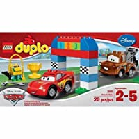 Lego Duplo Cars Disney Pixar Cars Classic Race-big Colorful Building Bricks and Blocks Sets Collectible Toys for Boys From 2-5 Years-includes Lightning Mcqueen and Mater Lego Duplo Figures- Imported From Usa. [並行輸入品]