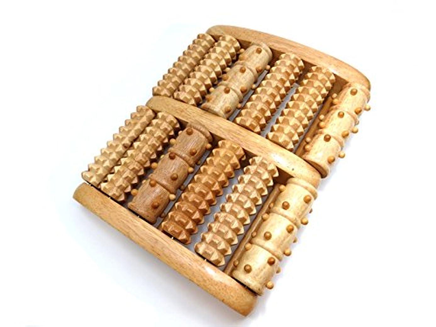 スリップ和上へ足裏マッサージ器 木製 台湾製