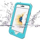 ZVE iphone6s ケース iPhone6ケース 防水ケース アイフォン6/6sケース 4.7インチ スマホケース 落下防止 防塵 防雪 耐衝撃カバ ー 指紋認識可 液晶保護フィルム,アームバンド付き 青色(ブルー)