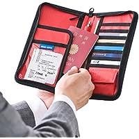 サンワダイレクト パスポートケース 13ポケット 航空券対応 トラベル オーガナイザー Lサイズ ブラック 200-BAGIN002BK