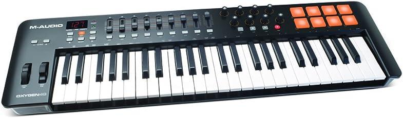 M-Audio USB MIDIキーボード 49鍵 8パッド ・8ノブ・9フェーダー Oxygen 49