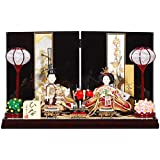 雛人形 親王平飾り 【信濃】セット(2人)[幅50cm] 花梨塗[sb-6-70] 雛祭り