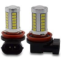 Kashine - LED フォグランプ H11 ホワイト 白 33-5730SMD フルヒートシンク 定電流 9V~12Vまで対応 2個セット