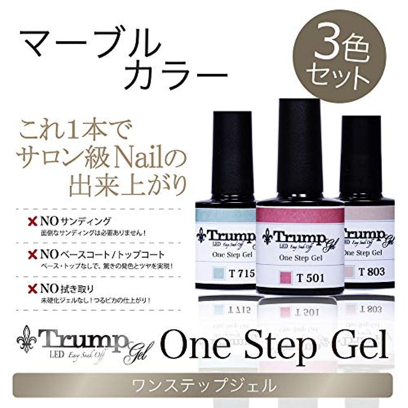 延ばす眠る傷つける【日本製】Trump gel トランプジェル ワンステップジェル ジェルネイル カラージェル 3点 セット スモーキーモーヴ ボルドー マーブル (マーブルカラーセット)