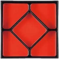 9.5寸 角千筋重用五ツブロック 四角仕切 朱天黒 A