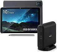 【セット販売】アイリスオーヤマ タブレット LUCA 10.1インチ Android 10 TM101N1-B & LUCAステーション ワイヤレス テレビチューナー IST-BAU