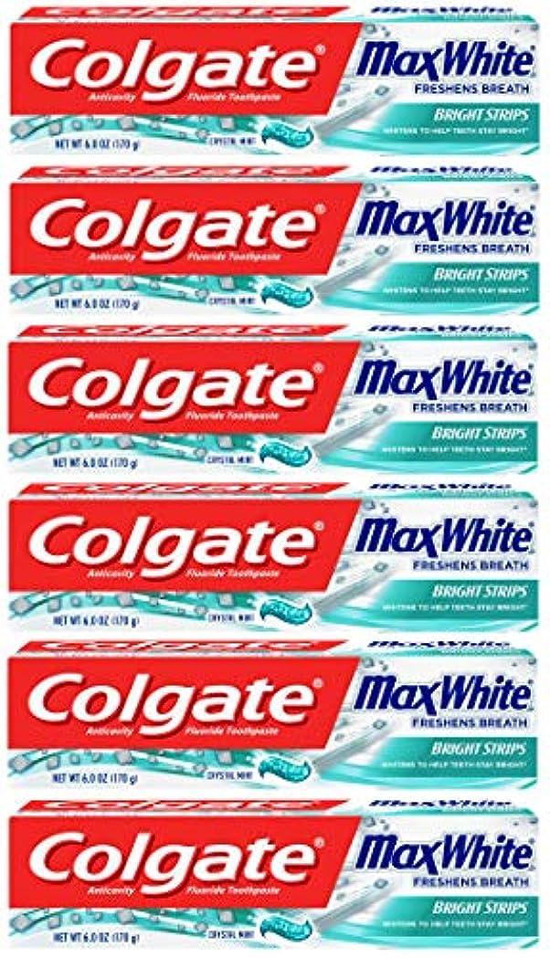 深さデッキ枯渇Colgate 明るいストリップでマックスホワイトホワイトニングの歯磨き粉、ミント - 6オンス(6パック)