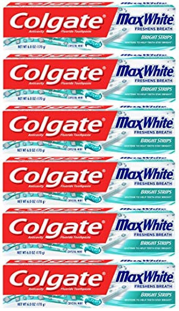 活気づく供給引用Colgate 明るいストリップでマックスホワイトホワイトニングの歯磨き粉、ミント - 6オンス(6パック)