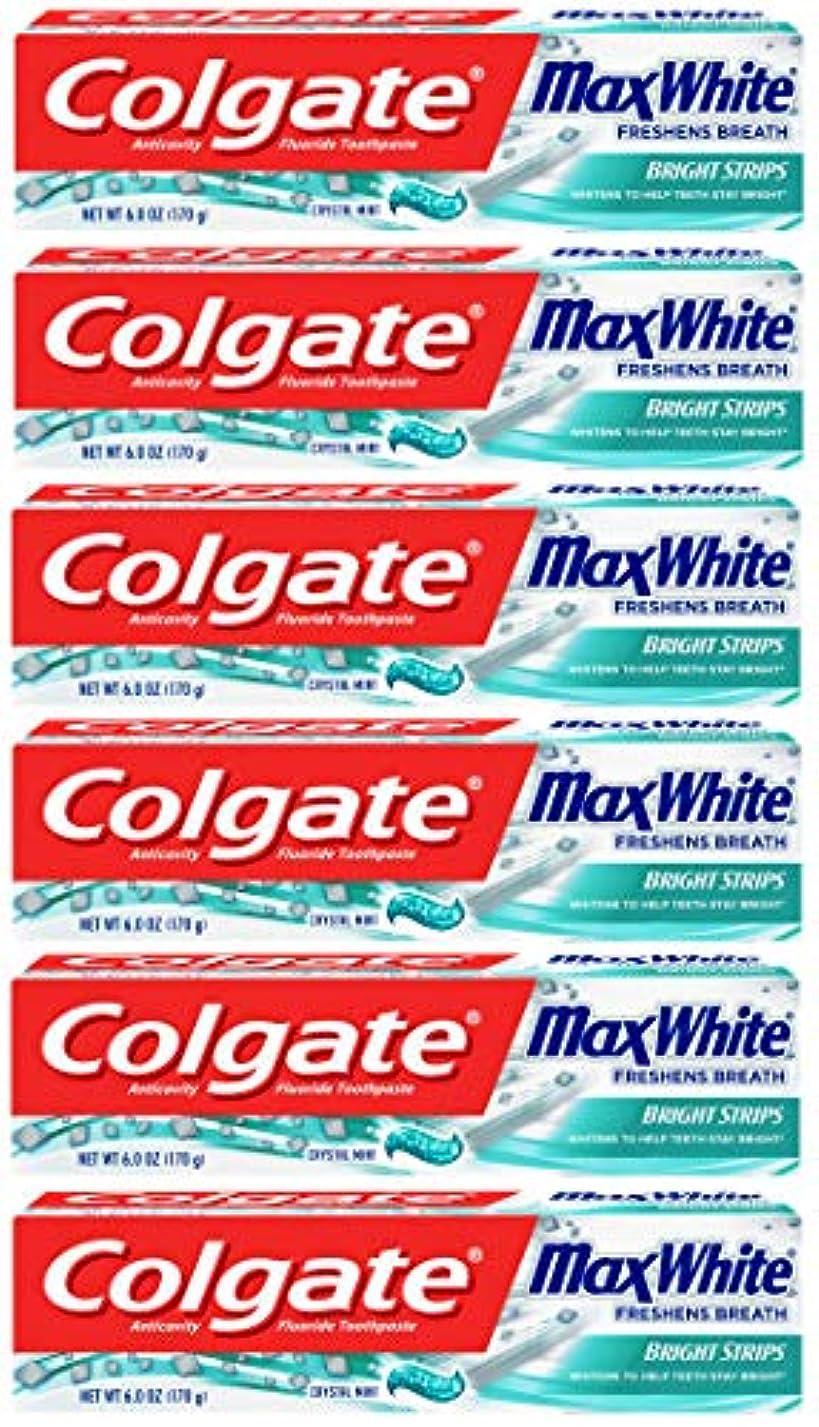 ベリー乱闘メロドラマColgate 明るいストリップでマックスホワイトホワイトニングの歯磨き粉、ミント - 6オンス(6パック)