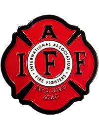 Stick Em Up ビニール製 消防士 国際協会IAFF 1.25インチ エナメルピン