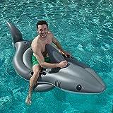 インフレータブルサメフローティング行、大人と子供に適した水上フローティングベッド、夏のビーチプールパーティーカーニバル楽しいおもちゃ