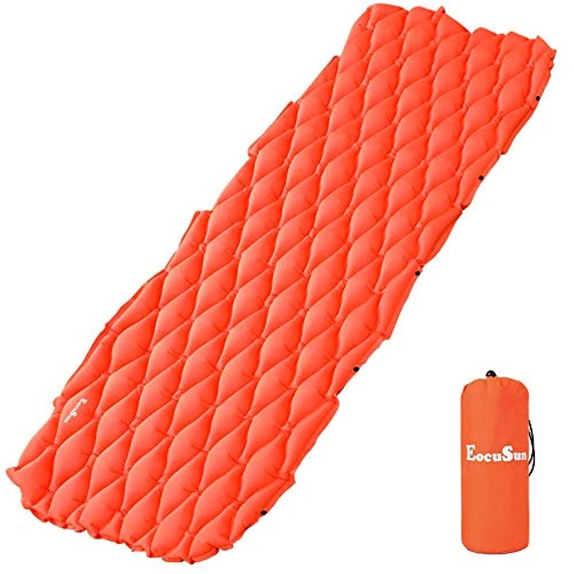 やめるサイクロプス疾患eocusun Sleeping Pad inflatablelightweight超軽量コンパクト快適な防水Air mattresscamping Mafor Campバックパッキング、旅行、ハイキング、スカウト、